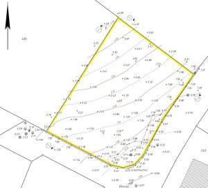 Höhenplan eines Einfamilienhausgrundstücks