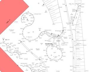 Plan nach topographischen Geländeaufmaß